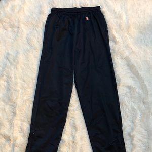 Men's Champion dark blue mesh training pants